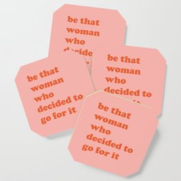 Female Empowerment Entrepreneur Quote Coaster