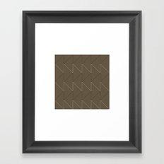 #168 Sawtooth – Geometry Daily Framed Art Print