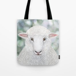Corriedale sheep farm animal portrait Tote Bag