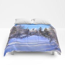 Frozen river Comforters