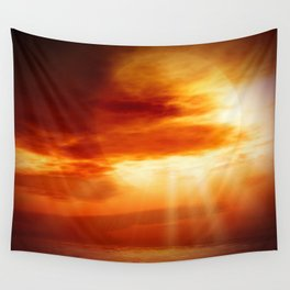 sunrise in the sea Wall Tapestry