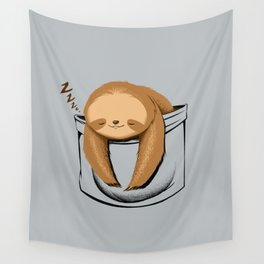 Sloth in a Pocket Wall Tapestry