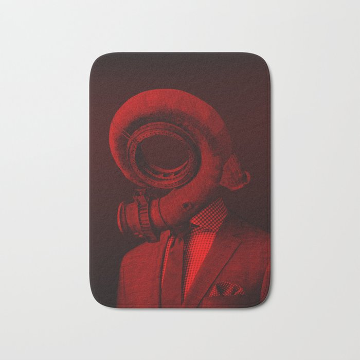 red 4 · the truth is dead Bath Mat