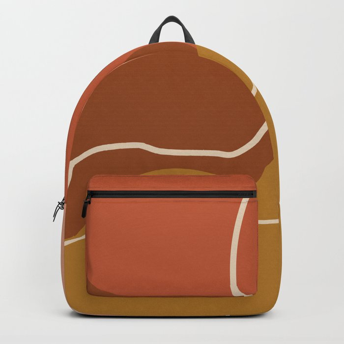 Abstract Organic Shapes in Zen Desert Color  Backpack