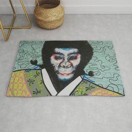 Kabuki face paint Rug