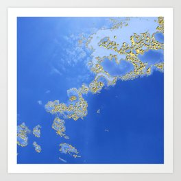 Orencyel : sky gazing before this golden melody Art Print