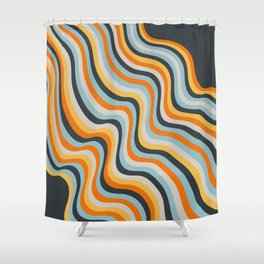 Dancing Lines Shower Curtain
