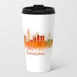 Barcelona City Skyline Hq _v3 Travel Mug