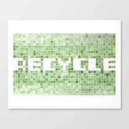 Recycle watercolor mosaic Canvas Print