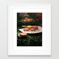 macarons Framed Art Prints featuring Macarons by Chris Klemens