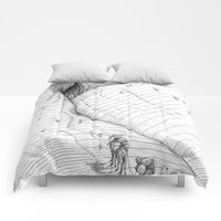 Comforters featuring asc 660 - La route des origines (Bab alhaya) by From Apollonia with Love