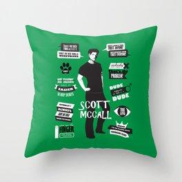 Scott Mccall Teen Wolf Quotes Throw Pillow