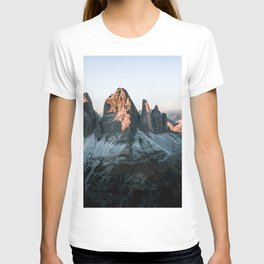 Dolomites sunset panorama - Landscape Photography T-shirt