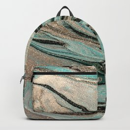 glitter sparkle marble Backpack