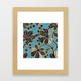 Chestnut Leaves Framed Art Print