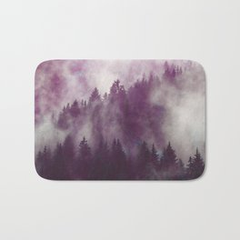Clear life's mist to see beauty. Purple Bath Mat