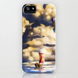 Clouds and stars iPhone Case