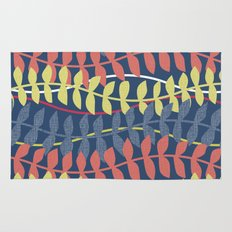 seagrass pattern - blue red yellow Rug