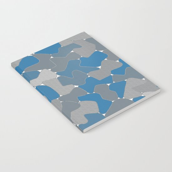 Blue Wall Etching Notebook