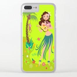Hula Honey Clear iPhone Case