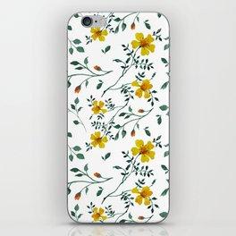 Little yellow flowers iPhone Skin