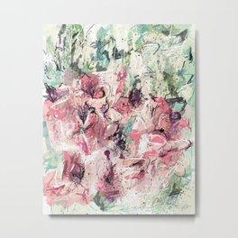 Abstract flowers 1 Metal Print