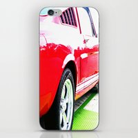 mustang iPhone & iPod Skins featuring Mustang by LeeRay Flowers