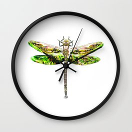 Dragonfly illustrated flying insect Wall Clock