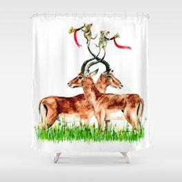 Horns Shower Curtain