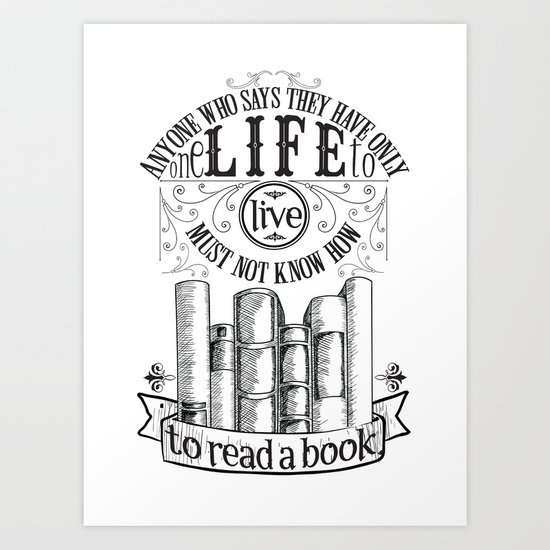How To Read A Book Art Print
