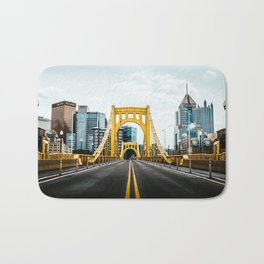 Pittsburgh Skyline Bath Mat