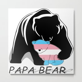 Papa Bear Transgender Metal Print