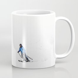 Downhill Skier - Winter Sports Scene Coffee Mug