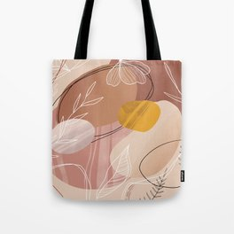 Abstract Peach Tote Bag