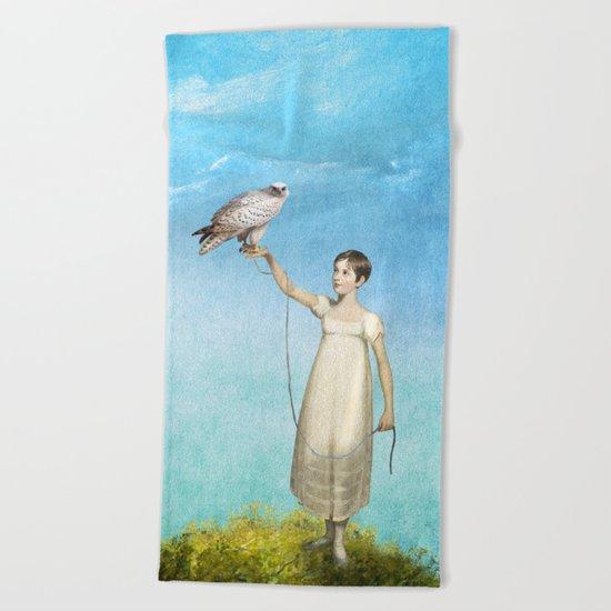 My Little Friend Beach Towel