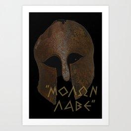 The Spartan Answer at Thermopylae Art Print