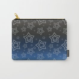 Ornated Silver Stars Carry-All Pouch