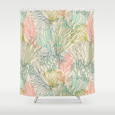 Flowing sea Shower Curtain