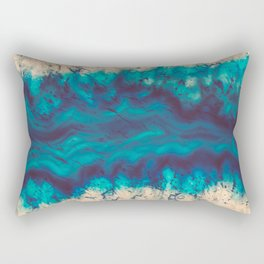 Blue Agate River of Earth Rectangular Pillow