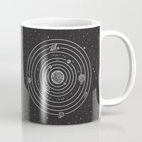 solar system Mugs featuring SOLAR SYSTEM by Mírë