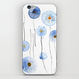 blue abstract dandelion 2 iPhone Skin