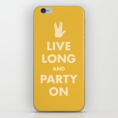 Live Long and Party On (Gold) iPhone & iPod Skin