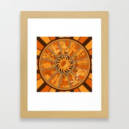 Harley and J Zodiac Orange Framed Art Print