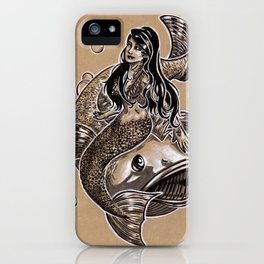 Mermaid Sea Bass iPhone Case