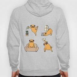 Pug Yoga at Home Hoody