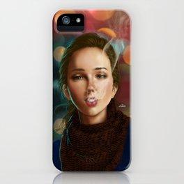 Smoking girl iPhone Case