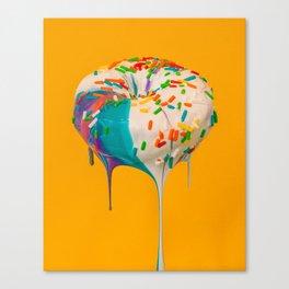 Liquid Smothered Doughnut Canvas Print