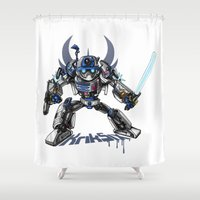 transformer Shower Curtains featuring R2-D2 Transformed by KrikSix