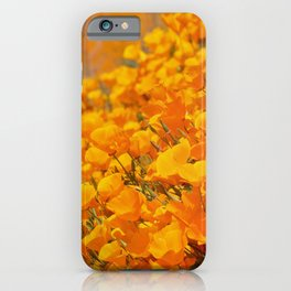 Golden Meadow of California Poppies in Bloom by Reay of Light Photography iPhone Case