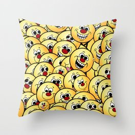 Happy Smiley Collections Grumpeys Throw Pillow